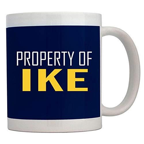Teeburon Property of Ike Bold Text Taza cerámica 11 onzas