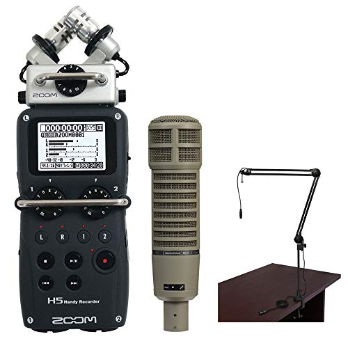 Zoom H5 Recorder Podcast Kit with Electro-Voice RE20 Microphone