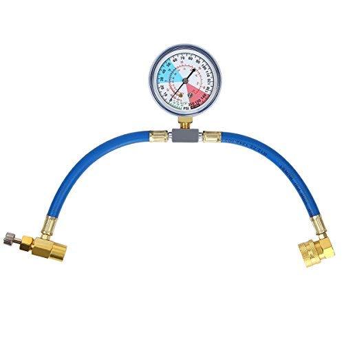 Latinaric – kit de recarga con manómetro para medir y recargar el refrigerante del aire acondicionado R134a