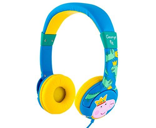 Peppa Pig Children's Padded Volume Restricted Headphones - Blue/Yellow