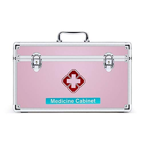 JF-XUAN First Aid Box First Aid Box With Removable Tray & Handle, Medical Organizer Storage Box Family Emergency Kit Storage Case Housewares First Aid Box,Nurse Offices (Size : S)