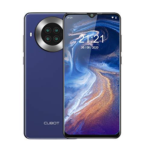 CUBOT Note 20 Pro Smartphone ohne Vertrag, 6.5 Zoll HD Display, 8GB RAM/128GB, 4200mAh Akku, QuadKamera, 4G, Dual SIM, Android 10, Blau