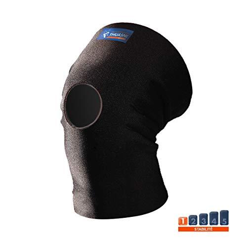 Neopren-Kniebandage von Thuasne Sport - Schwarz - Größe XL