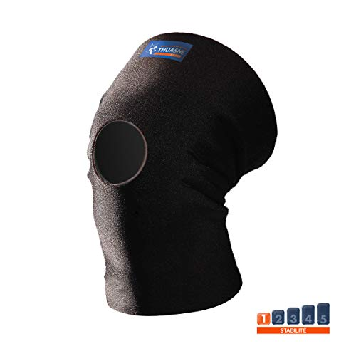 Neopren-Kniebandage von Thuasne Sport - Schwarz - Größe M