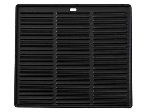 CLP Gusseisen-Grillplatte I Für Gasgrill, Kohlegrill & Elektrogrill, Farbe:anthrazit, Größe:45.5 x 35 cm