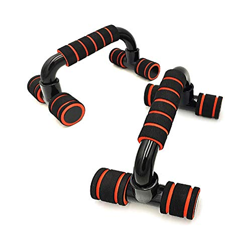 Boldfit Push Up Bar Stand For Gym & Home Exercise, Dips/Push Up Stand For Men & Women. Useful In Chest & Arm Workout. (Orange...
