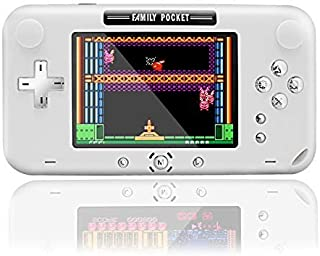 """Kids Video Game Console, Retro Handheld Game Console 222 in 1 FC Games, 12 Bit Aracede Game Machine with 4"""" LCD Support AV Protable Rechargeable Game Player, Best Gifts for Men and Children (White)"""