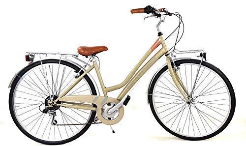 """Adriatica Bicicletta Donna Trend"""" Ruote 28″ con Cambio Shimano 6 velocità + Accessori Inclusi/Colore Verde"""
