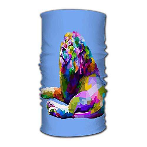 Diademas mágicas de Mecha Ancha Pañuelo al Aire Libre Colorido león acostado Mirando hacia Arriba Pañuelo en la Cabeza, pasamontañas, pañuelo mágico, Sudor