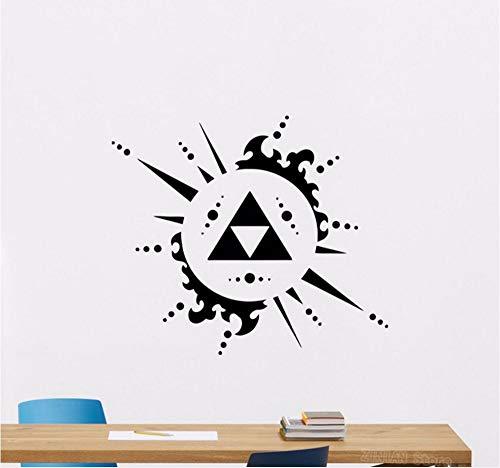 Hanjiming Legend Of Zelda Triforce Wandtattoo Videospiel Vinyl Aufkleber Dekor Poster Abstrakte Entfernbare Wandaufkleber Wohnzimmer