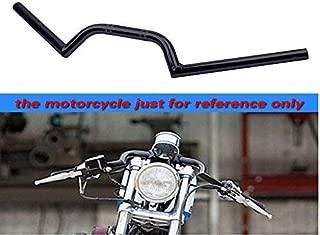 33mm HANEU Aluminium Demi Guidon motos bracelet moto pour CB500 CB750 GN400 GS550 GS750 GPz550 KZ550 TZ250 XJ550 Universel fourche guidon bracelet cafe racer Angle 8 /° tubes 22MM couleur noire