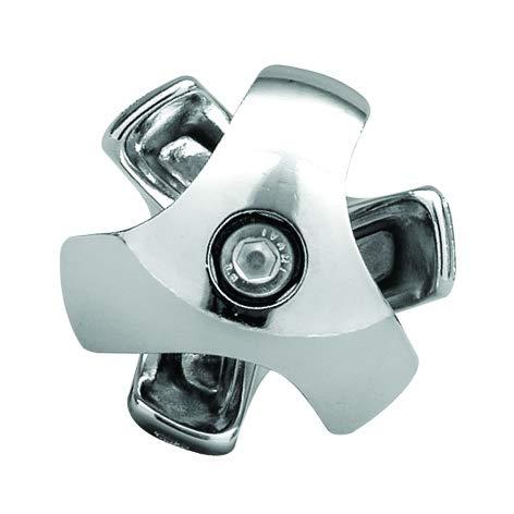 GIUNTO A 3 VIE DESTRO PER TUBO TONDO DIAMETRO 25 mm AGGANCIO INCROCIO TUBI ANGOLI PER LA CREAZIONE DI STRUTTURE IN FERRO (CROMATO)