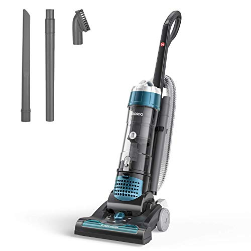 Pet Vacuum, MOOSOO 5 Max Performance Upright Vacuum Cleaner, 1400W Strong Suction, 5-Stage HEPA Filtration for Carpet, Pet, Hard Floor