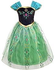 Lito Angels Niñas Disfraz de Princesa Anna Vestido de Coronación Fiesta Disfraces de Halloween