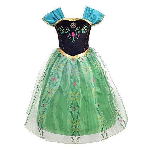 Lito Angels Mädchen Prinzessin Anna Kleid Kostüm Weihnachten Halloween Party Verkleidung Karneval Cosplay 2-3 Jahre