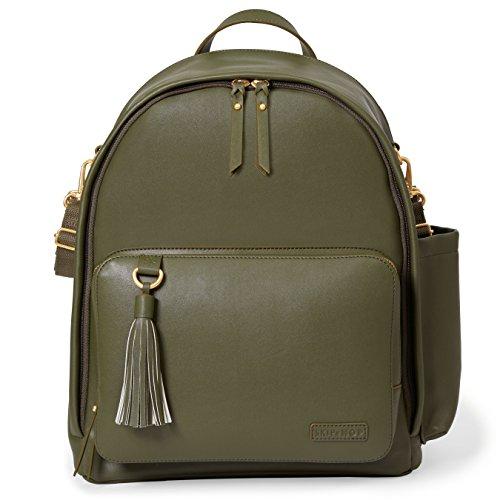Bolsa Maternidade Skip Hop - Coleção Greenwich Simply Chic Backpack (Mochila) - Cor Olive, Skip Hop, Olive