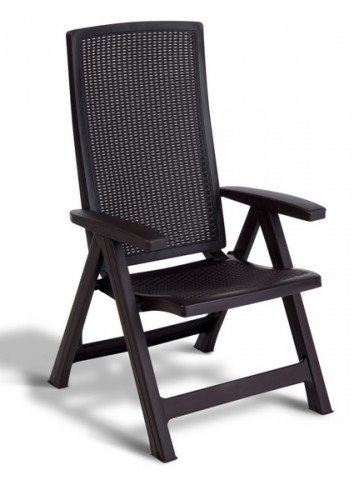Chaise de jardin multipositions Montréal   couleur graphite