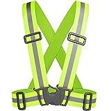 Tolsen - Chaleco Reflectante de Alta Visibilidad con Tirantes elásticos para Seguridad Running Ciclismo