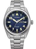Citizen Orologio analogico Eco-Drive 32017771, Argento/blu, misura unica, Bracciale
