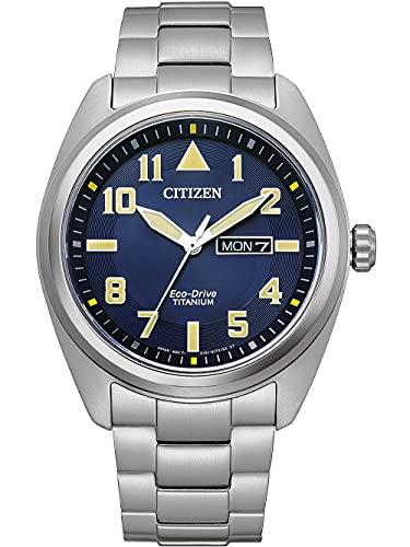 Citizen Eco-Drive BM8560-88LE - Reloj de pulsera para hombre (titanio), color azul