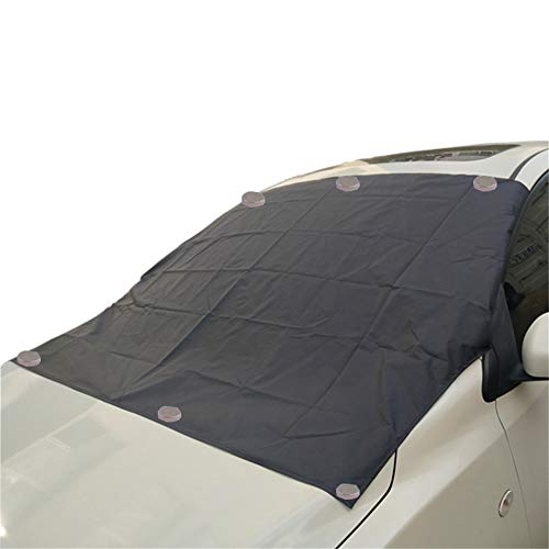 Asudaro Magnetic Windshield Cover, Windshield Cover Magnetic Protection Folding Cover Car Windscreen Cover Protector Frost, Snow, Sun and Rain Proof 206 * 116cm