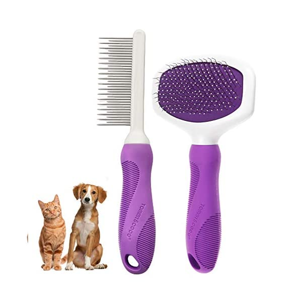 Cat Dog Grooming Brush pet Comb Kit,Pet grooming tool rake,Pet grooming brush...