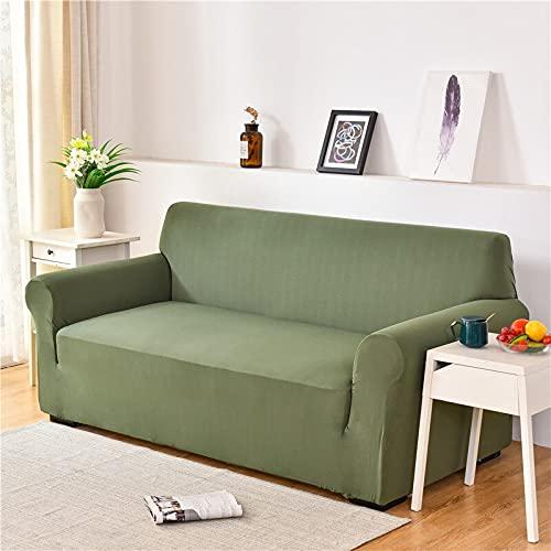 WXQY Funda de sofá elástica para Sala de Estar Funda de sofá a Prueba de Polvo Funda de sofá elástica Funda de Spandex Universal Funda de Esquina en Forma de L A6 3 plazas