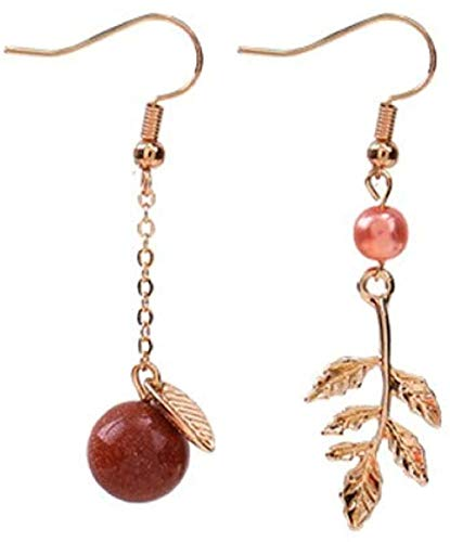Earring Simple and versatile asymmetrical long leaf earrings, exquisite fashion, popular classic,