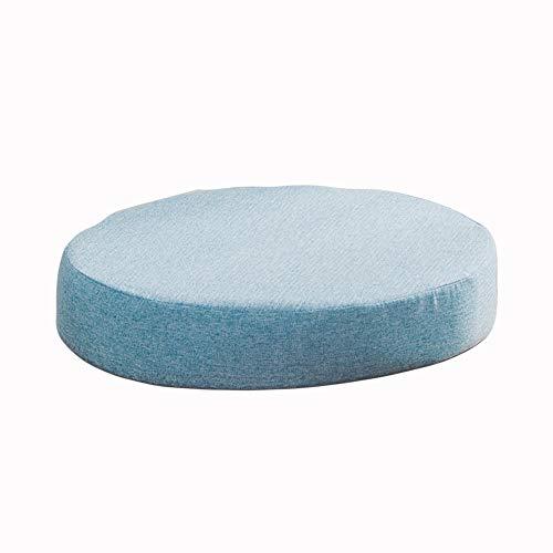 Almohadillas redondas para sillas de comedor, cocina, jardín, cojines gruesos, antideslizantes, para exteriores, cojines de asiento de oficina, lavables (40 x 40 x 5 cm), color azul