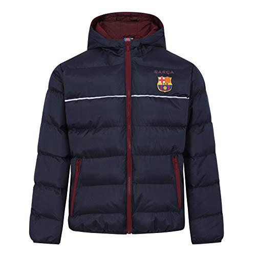 FC Barcelona - Jungen Winter-Steppjacke mit Kapuze - Offizielles Merchandise - Geschenk für Fußballfans - 8-9Jahre