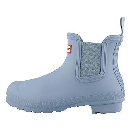 HUNTER Boot Women's Original Chelsea Rain Boot Blue Stem 8 Medium US