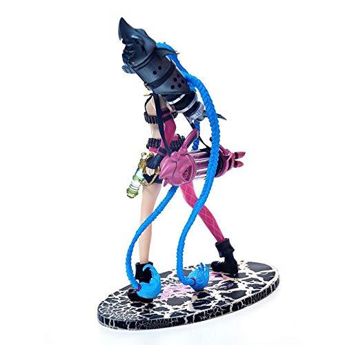 Figura De Acción De PVC De 26 Cm LOL League of Legends Runaway Lolita Jinx Hecho A Mano Modelo De Escultura Mediana Decoración Grande Jinx