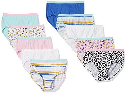 Fruit of the Loom Girls' Little Cotton Brief Underwear, 10 Pack - Fashion Assorted, 6