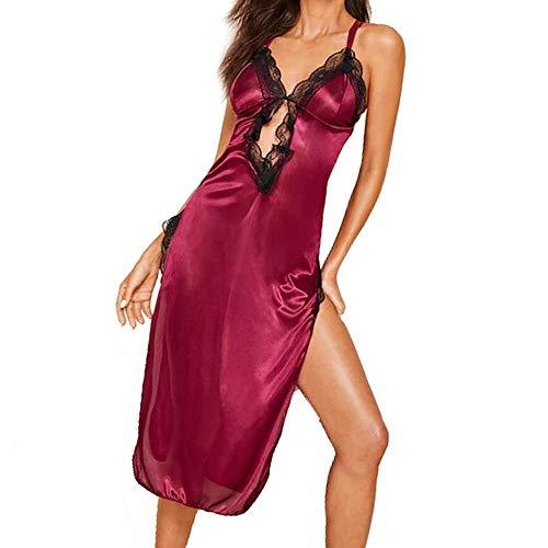 YJLYQ Pijamas Mujer Sexy, Disfraz Ertico Mujer Sexy Vestido De Lencera Regalos del Primer Aniversario De Boda Noche De Bodas Luna De Miel (Size : Large)