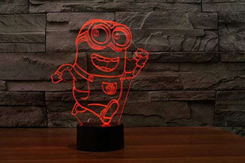 DUANJ Minions 3D Small Night Light Colorful Touch Bedside Personality Company Advertising Logo Customized Desk lamp