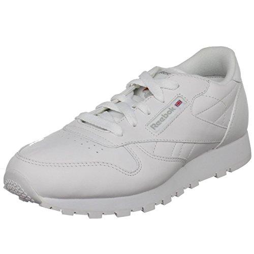 Reebok Classic Leather Sneaker (Big Kid),White,3.5 M US Big Kid