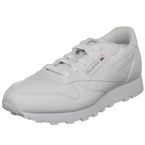 Reebok Classic Leather Sneaker (Big Kid),White,6.5 M US Big Kid