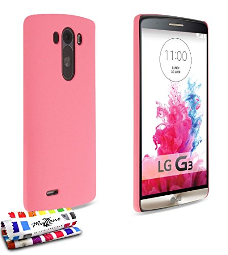 Ultraplatte harde beschermhoes LG G3 D855 [Le Pearls Premium] [Rosa] van MUZZANO + stift en microvezeldoek MUZZANO® GRATIS - De ultieme en duurzame beschermcase voor uw LG G3 D855