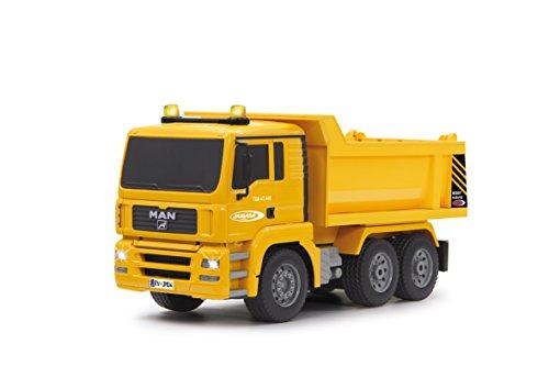 Jamara 405002 - Muldenkipper MAN 1:20 2,4G - Kippmulde hoch / runter, realistischer Motorsound, Hupe, Rückfahrwarnsound, 4 Radantrieb, gelbe LED Signallichter, programmierbare Funktionen