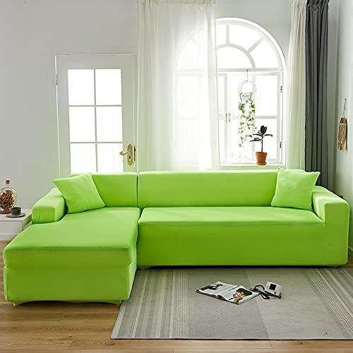 WXQY Funda de sofá elástica de Color sólido para Sala de Estar Funda Deslizante elástica Funda de sofá Funda de sillón en Forma de L Funda de sofá A17 1 Plaza