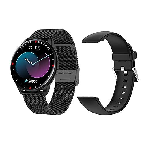 Smartwatch, Reloj Inteligente Deportivo con Pulsómetro, Cronómetros, Monitor de Sueño, Podómetro Monitores de Actividad Impermeable IP68 Smartwatch Hombre Mujer Reloj Deportivo para Android iOS