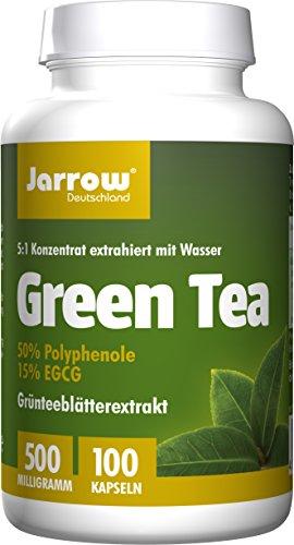 Green Tea, Grünteeblätterextrakt, 500 mg, Kapseln, 5-fach konzentriert, Jarrow Deutschland