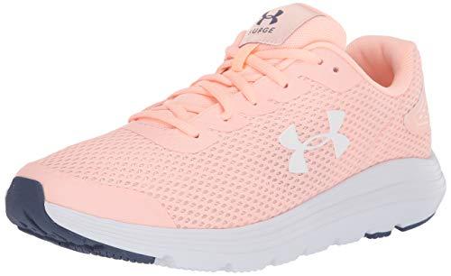 Under Armour Women's Surge 2 Running Shoe, Peach Frost (600)/White, 7