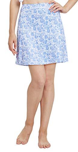 Westkun Falda de Golf Tenis Skort Mujer Negra Negra Pantalón Ropa Padel Running Corta Moda Deportivas Short(Azul y Blanco,L)