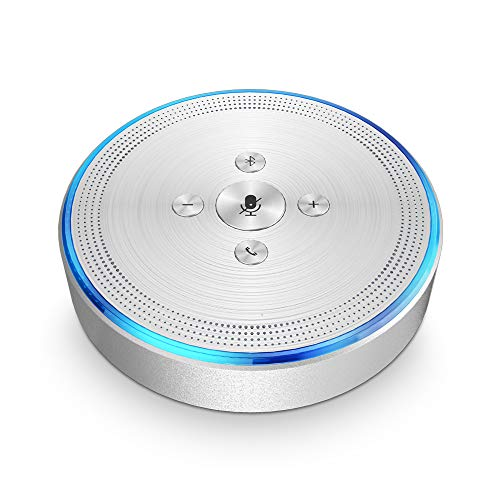 Bluetooth Speakerphone - eMeet OfficeCore M1 Silver Wireless Conference Speakerphone for 3-5 People