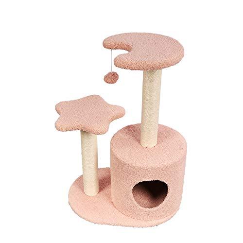 Katzen-Baum Kratzbaum Cat Klettergerüst Vier Jahreszeiten verfügbar Cat Klettergerüst Katzentoilette Haustier-Katzen-Wurf Katzenspielzeug Sisal Cat Jumping-Plattform Katzen Plüsch Condo Nest Basket Pe