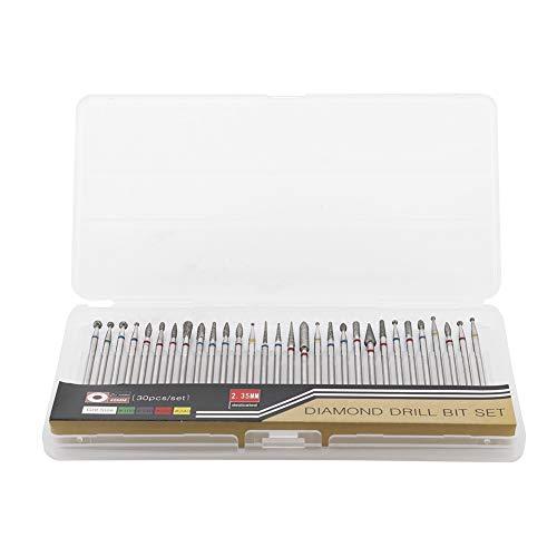 30 stks/set nagel boorkop oplaadbare slijtvaste nagel boormachine accessoires voor nagel voor nagel polijsten(A set)