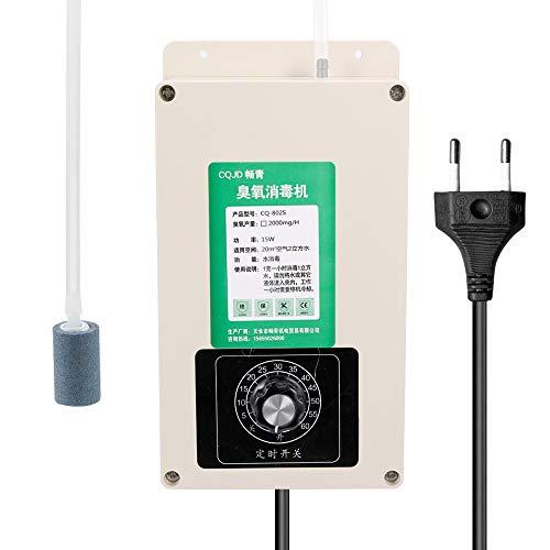 Generador de ozono Portátil Purificador de aire para hogar 2000mg Purificador de aire de agua multifuncional para el hogar Una hora Desinfección portátil de ozono Esterilizador Ozonizador