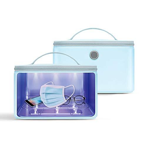 WDDMFR Esterilizador UV LED Cabinet, tasa de esterilización del 99,9 %, mascarillas de teléfono móvil, ropa desinfectante, con cable USB