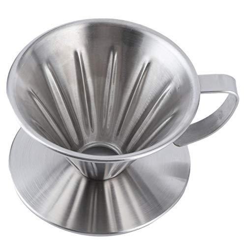 Ekspres do kawy na jedną filiżankę, przenośny przelewowy kroplownik do kawy Lekki z izolowanym termicznie przedłużonym uchwytem do podróży lub kempingu dla domowego biura(mały)